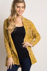 Yellow Pocket Front Dolman Sleeve Cardigan