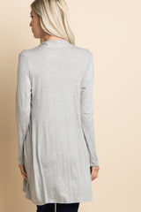 Heather Grey Solid Cardigan