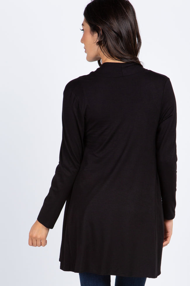 Black Solid Cardigan