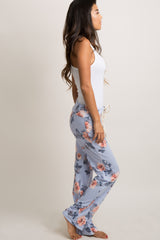 Blue Rose Floral Pajama Pants