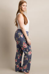 Navy Floral Plus Pajama Pants