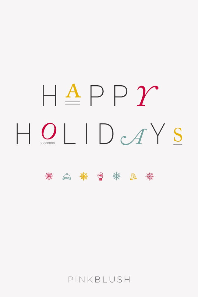 PinkBlush Happy Holidays Email Gift Card
