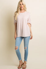 Light Blue Ripped Knee Frayed Hem Skinny Jeans