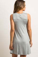 "Grey ""Mama Bear"" Graphic Sleep Dress"