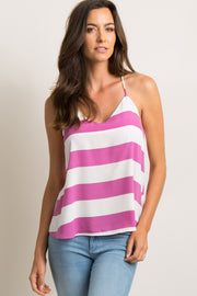 Fuchsia Striped Cami Tank Top
