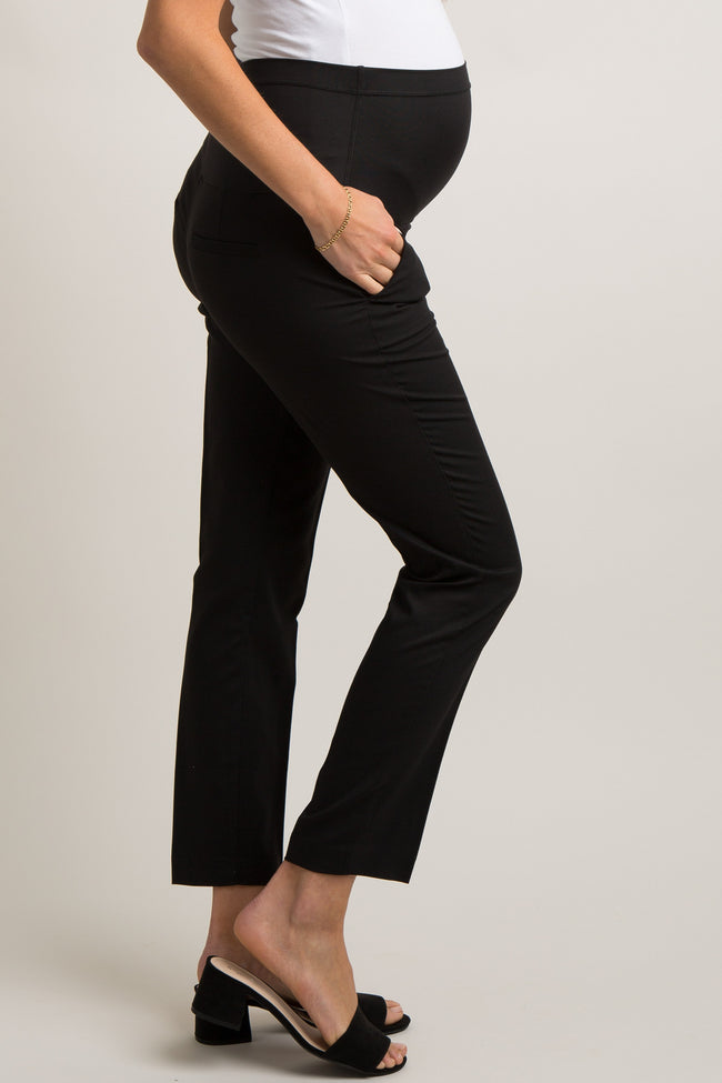 PinkBlush Black Tapered Maternity Trousers