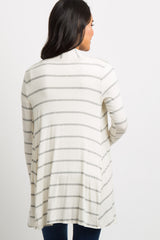 Heather Grey Striped Maternity Cardigan