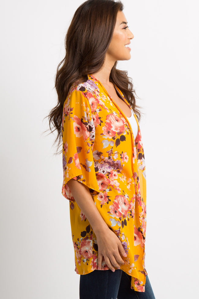 Yellow Floral Cover Up