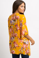 Yellow Floral Maternity Cover Up