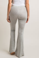Heather Grey Flare Hem Maternity Lounge Pants