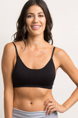Black Maternity Bralette With Adjustable Hooks