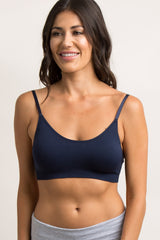 Navy Bralette With Adjustable Hooks