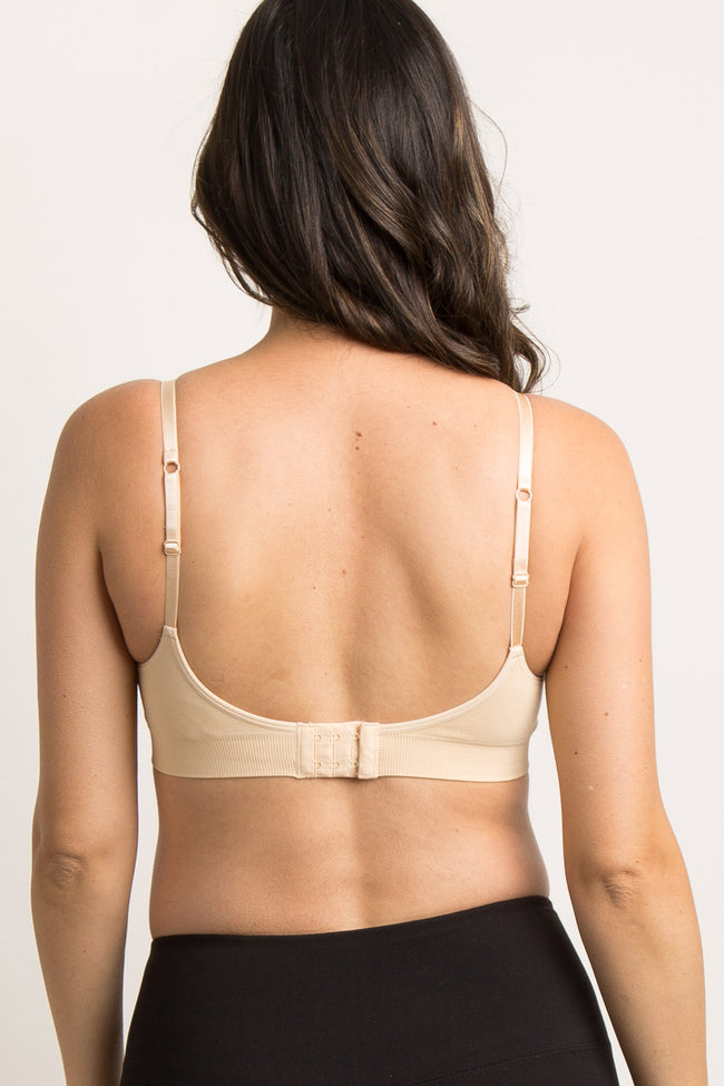 Nude Maternity Bralette With Adjustable Hooks