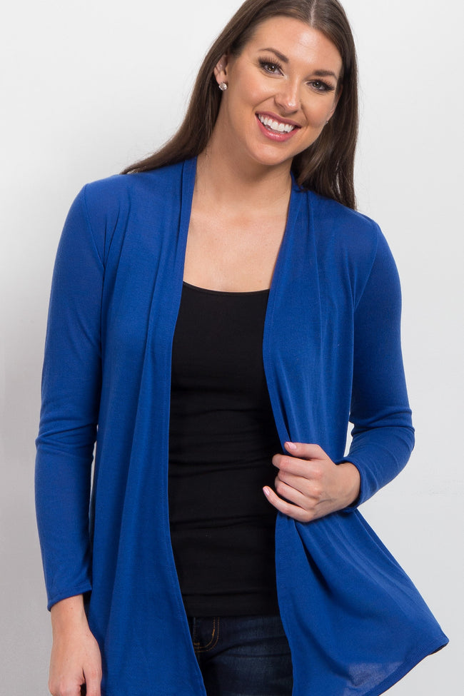 Royal Blue Maternity Cardigan