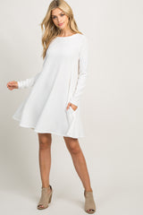 Ivory Basic Knit Maternity Swing Dress