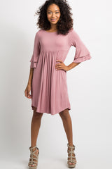 Pink Crisscross Back Babydoll Dress