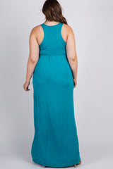 Jade Sleeveless Plus Maternity Maxi Dress