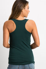 Green Fitted Tank Top