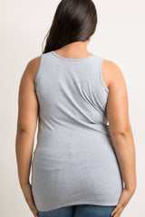 Heather Grey Basic Plus Tank Top