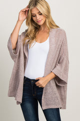 Taupe Side Pocket Knit Cardigan