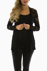 Black Lace Maternity Cardigan