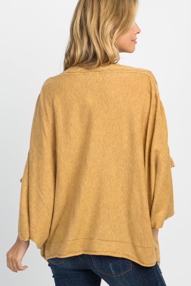 Yellow Knit Off Shoulder Dolman Top
