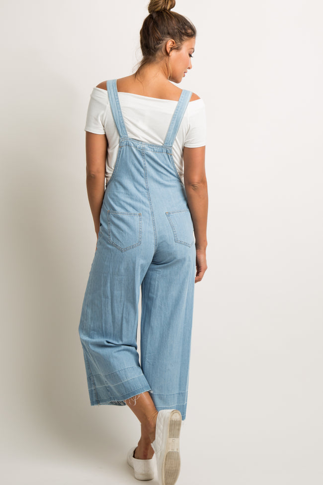 Light Blue Chambray Pocket Front Overalls