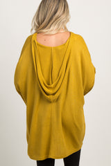 Yellow Hooded Dolman Sleeve Maternity Tunic