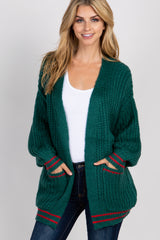 Forest Green Knit Cardigan