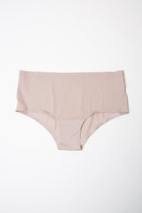 Beige Ribbed Seamless Underwear