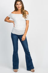 Navy Blue Stretch Insert Flare Jeans