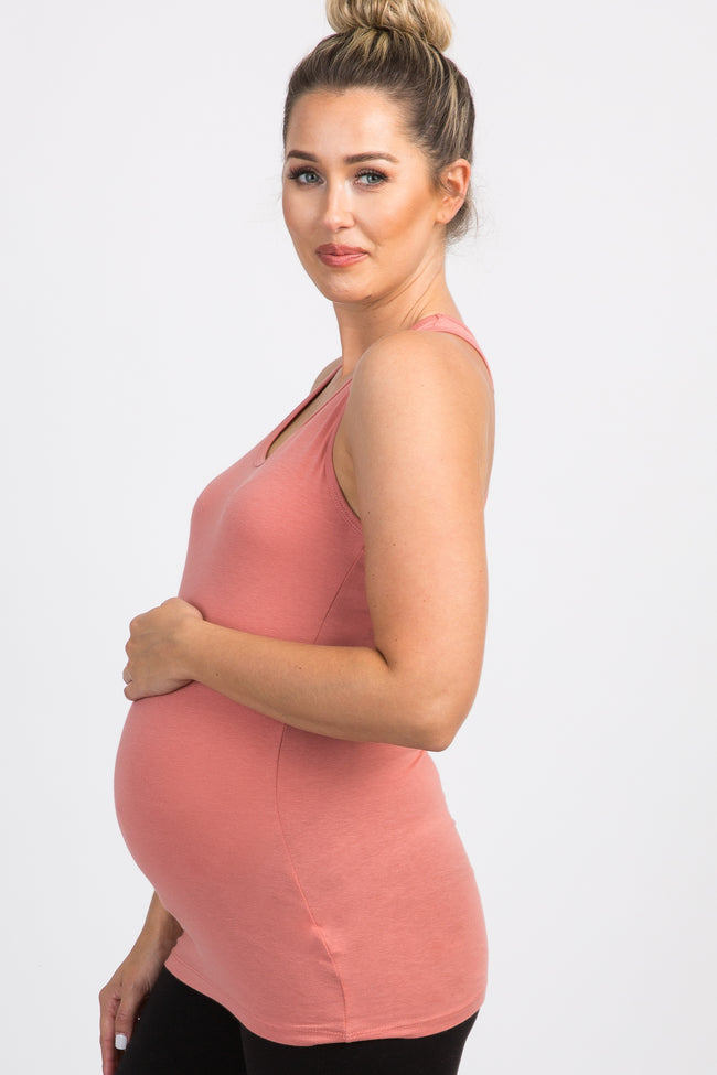 Pink Fitted Tank Top