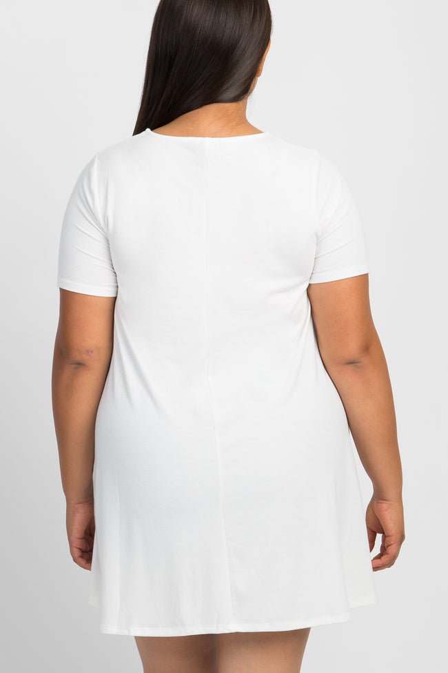 Ivory Short Sleeve Plus Sleep Dress