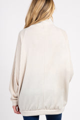 Beige Cowl Neck Dolman Sleeves Maternity Top