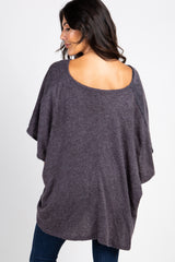 Charcoal Grey Wrap Front Nursing Top