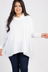 Ivory Cowl Neck Dolman Sleeve Plus Top