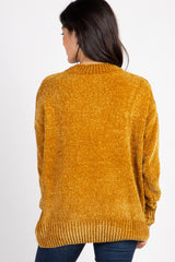 Mustard Ribbed Chenille Knit Sweater