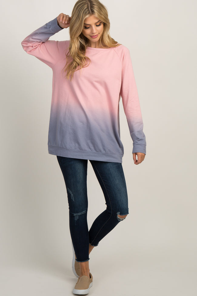 Mauve Ombre Maternity Sweater