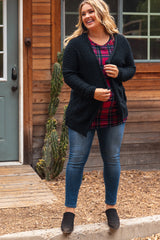 Black Knit Plus Maternity Cardigan