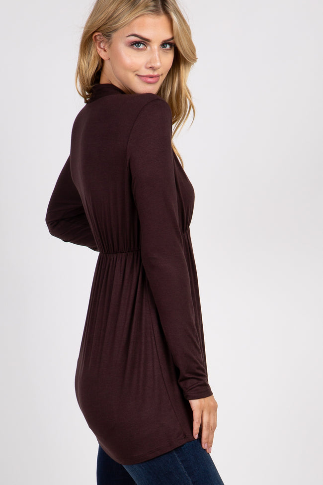 Brown Long Sleeve Nursing Top
