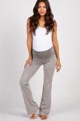 Taupe Faded Wash Maternity Lounge Pants