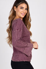 Plum Mineral Washed Top