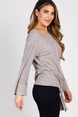 Taupe Mineral Washed Top