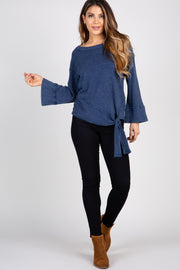 Navy Blue Mineral Washed Top