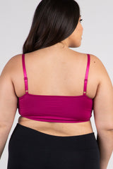 Magenta Caged Crisscross Plus Bralette