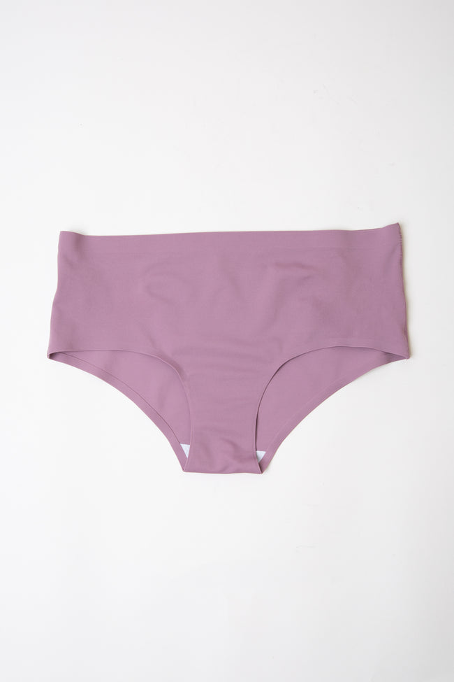 Mauve Solid Basic Seamless Underwear