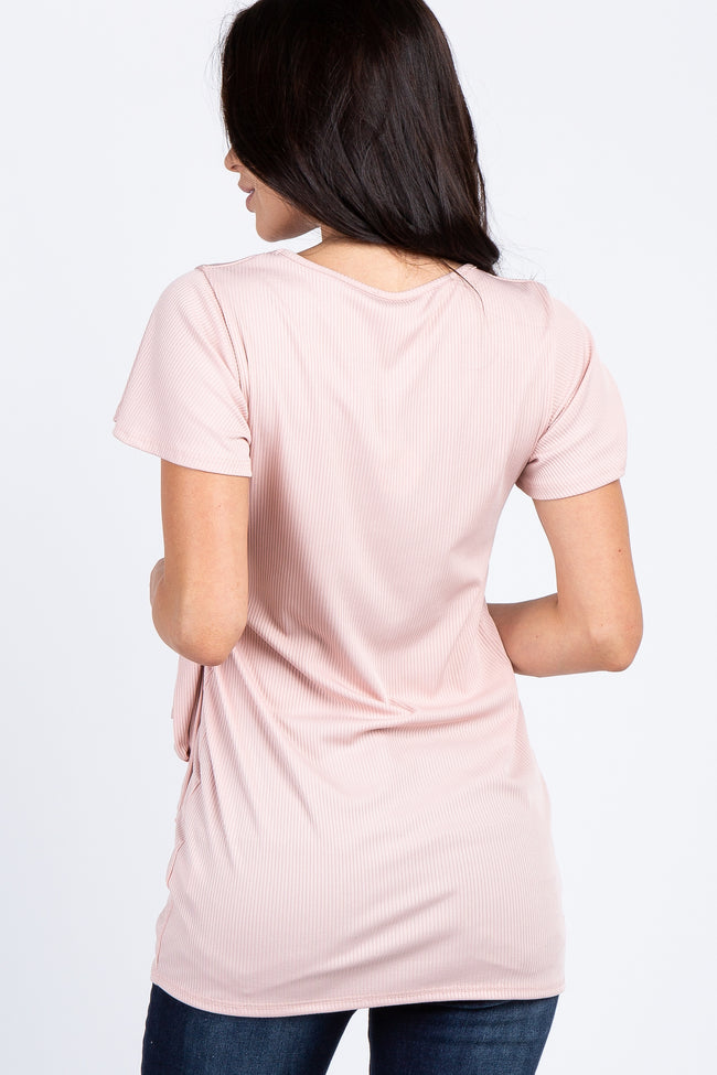 PinkBlush Pink Gathered Waistline Blouse