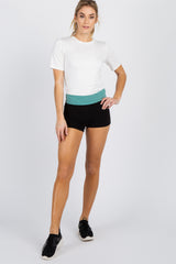 Jade Colorblock Foldover Maternity Shorts