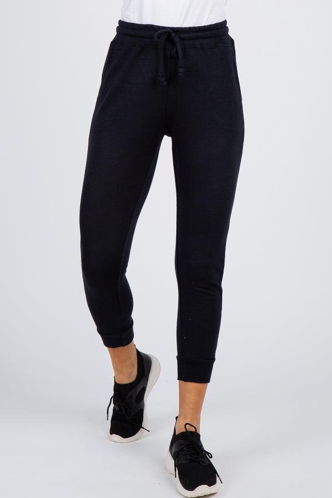 Black Cuffed Ankle Joggers