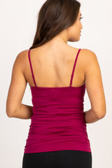 Burgundy Caged Front Maternity Cami